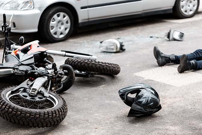 Imagen de un accidente de tráfico múltiple