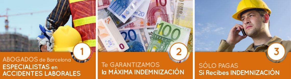 En Onandia Abogados de Barcelona te garantizamos la máxima indemnización en caso de accidente de trabajo. Solo cobramos si recibes indemnización